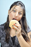 Stop eating junk food Royalty Free Stock Image