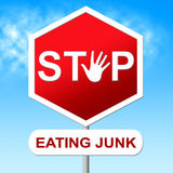 Stop Eating Junk Means Unhealthy Food And Danger Royalty Free Stock Photo