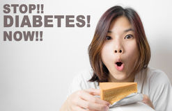 Stop eating sweet, Stay away from Diabetes. Royalty Free Stock Photo