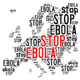 Stop ebola in Europe concept Royalty Free Stock Photos