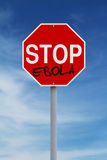 Stop Ebola. A modified stop sign on the Ebola virus Royalty Free Stock Image