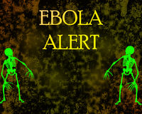 Stop Ebola. Stop and protection Ebola disease in Africa Royalty Free Stock Image