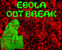 Stop Ebola. Stop and protection Ebola disease in Africa Stock Photo