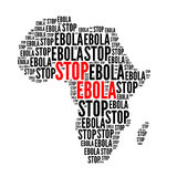 Stop ebola red and black. Stop ebola red black text cloud, isolated on white Stock Photography