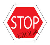 Stop ebola, road sign. With word Royalty Free Stock Image