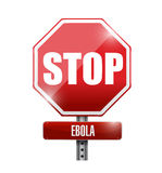 Stop ebola sign illustration design. Over a white background Royalty Free Stock Images
