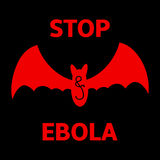 Stop Ebola sign. Stop Ebola virus sign and symbol. Vector illustration Royalty Free Stock Image