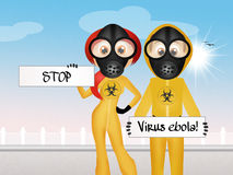 Stop ebola virus. Illustration of stop ebola virus Royalty Free Stock Photos