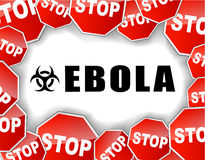 Stop ebola virus illustration. Vector illustration of stop ebola virus epidemic concept Stock Photography