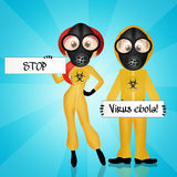 Stop ebola virus. Illutration of ebola virus sign Stock Photos
