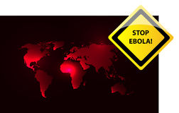 Stop ebola. Virus theme background with world map Royalty Free Stock Images