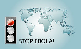 Stop ebola. Virus theme background with world map Royalty Free Stock Photo