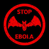Stop Ebola Warning Sign Stock Images