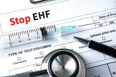 Stop EHF (Ebola hemorrhagic fever) Stop EHF (Ebola hemorrhagic f Royalty Free Stock Images