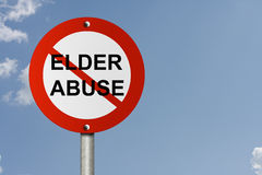 Stop Elder Abuse Sign Stock Images