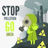 Stop environmental pollution Stock Images