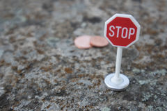 Stop euro cents. In the european community Royalty Free Stock Photography