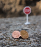 Stop euro cents. In the european community Royalty Free Stock Image