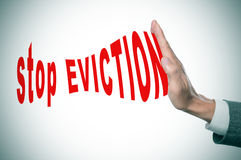 Stop eviction Royalty Free Stock Image