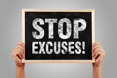 Stop Excuses Stock Photo
