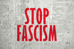 Stop fascism message Stock Images