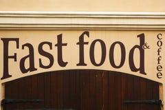 Stop fast food Stock Photos