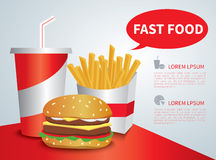Stop fast food Royalty Free Stock Photography