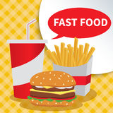 Stop fast food Stock Images