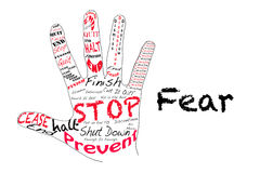 Stop Fear Royalty Free Stock Images
