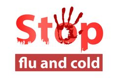 stop flu and cold concept. stop illness Royalty Free Stock Photo
