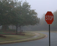 STOP for fog Stock Images