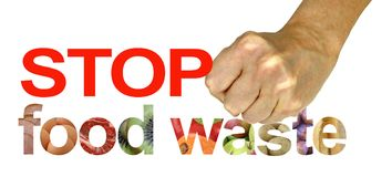 STOP food waste Campaign Protest Royalty Free Stock Photos