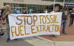 Stop Fossil Fuel Extraction Protest Sign Royalty Free Stock Photos