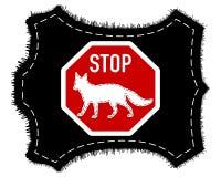 Stop fox fur Stock Photos