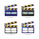 Stop frame. Clapperboard  Vector illustration. Stop frame. Clapperboard. Vector illustration Royalty Free Stock Photography