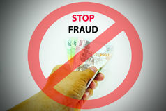 Stop fraud sign Royalty Free Stock Image