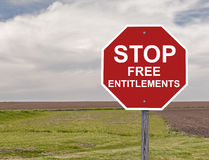 Stop Free Entitlements Royalty Free Stock Photography