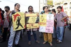 Stop Gender Violence Stock Image