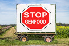 Stop Genfood Royalty Free Stock Photos