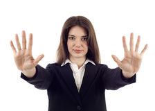 Stop Gesture Royalty Free Stock Photos