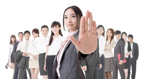 Stop gesture Stock Photography