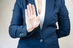 Stop gesture Stock Images
