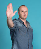 Stop gesture Royalty Free Stock Image