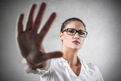 Stop gesture Royalty Free Stock Photo