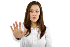 Stop Gesture Royalty Free Stock Photography