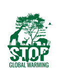 Stop global warming (animal planet) Stock Photos