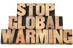Stop global warming Royalty Free Stock Images