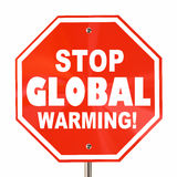 Stop Global Warming Sign Royalty Free Stock Photography