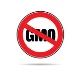 Stop gmo color vector Royalty Free Stock Photography