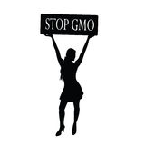Stop gmo with girl vector Stock Photo